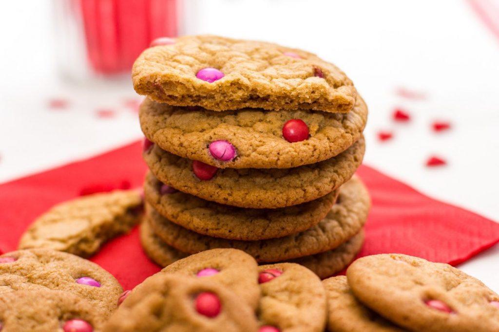 Chocolate chip cookies met M&M's
