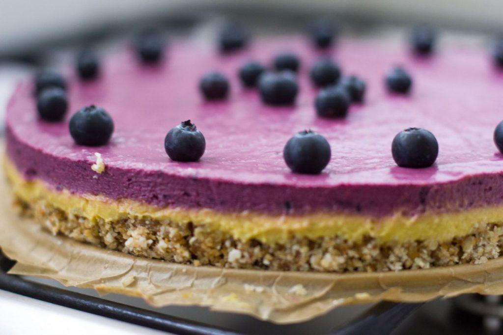 Vega taart met zomerfruit
