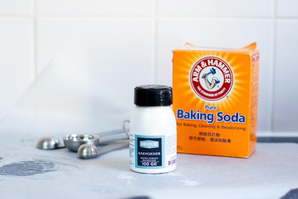 Baking soda bakpoeder verschil