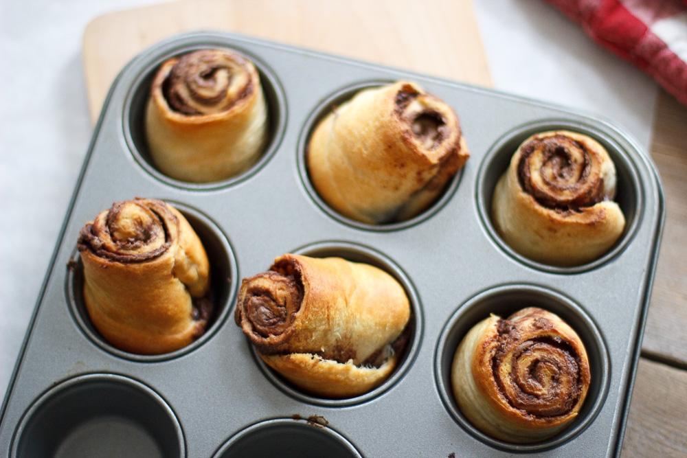 Easy chocoladecroissant rolls