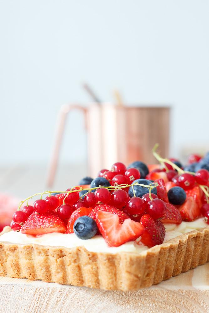 Lemon curd taart met rood fruit