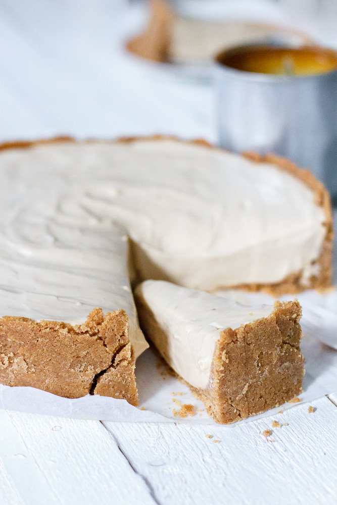 No-bake dulce de leche cheesecake