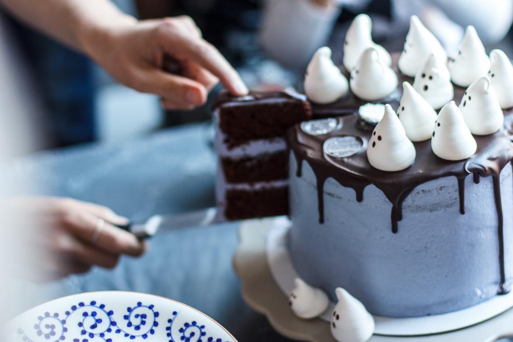 Chocolade spookjestaart