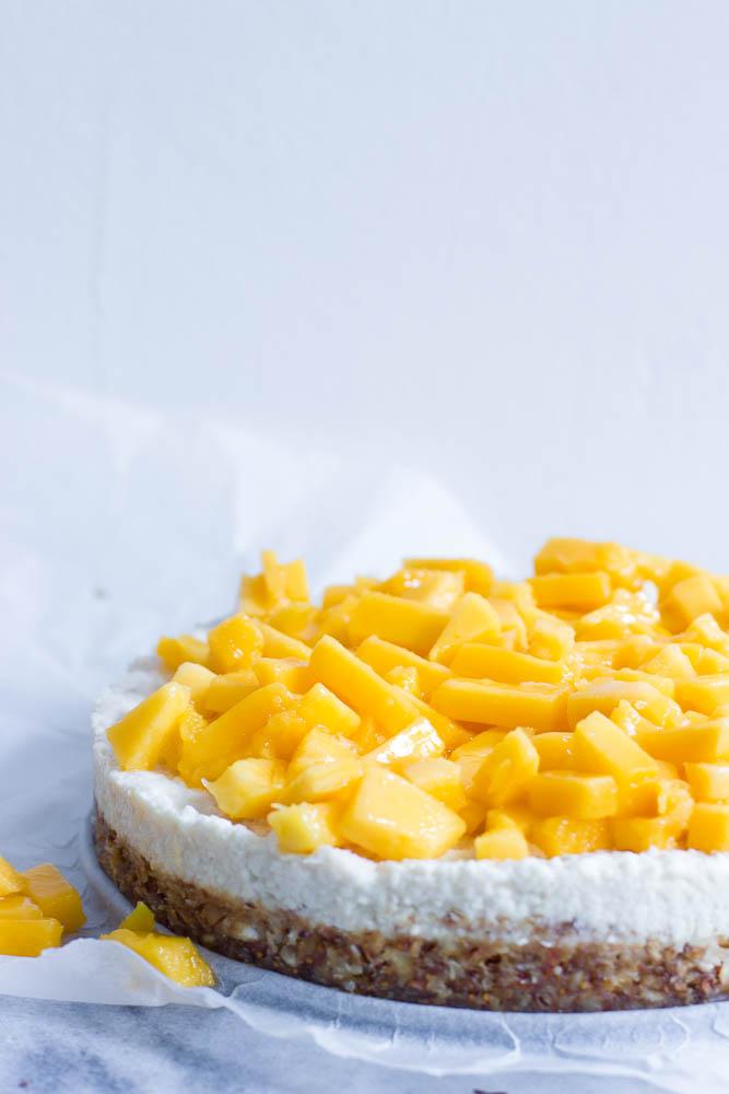 vegan mango kokostaartje