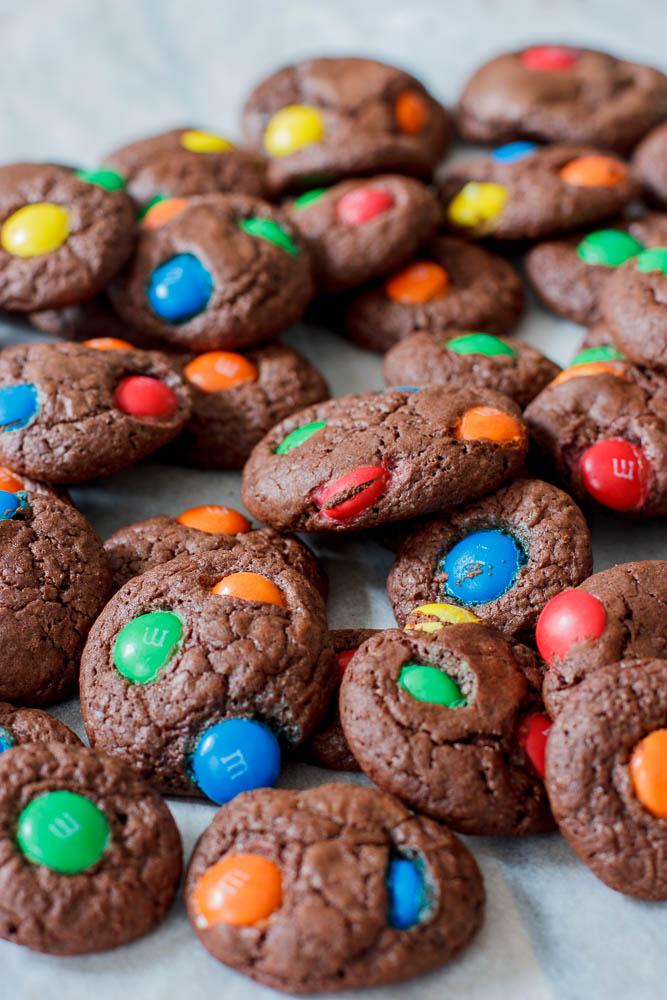 Chocolade M&M's koekjes