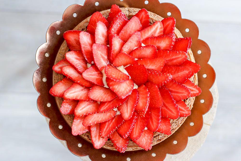 Ronde aardbeienslof