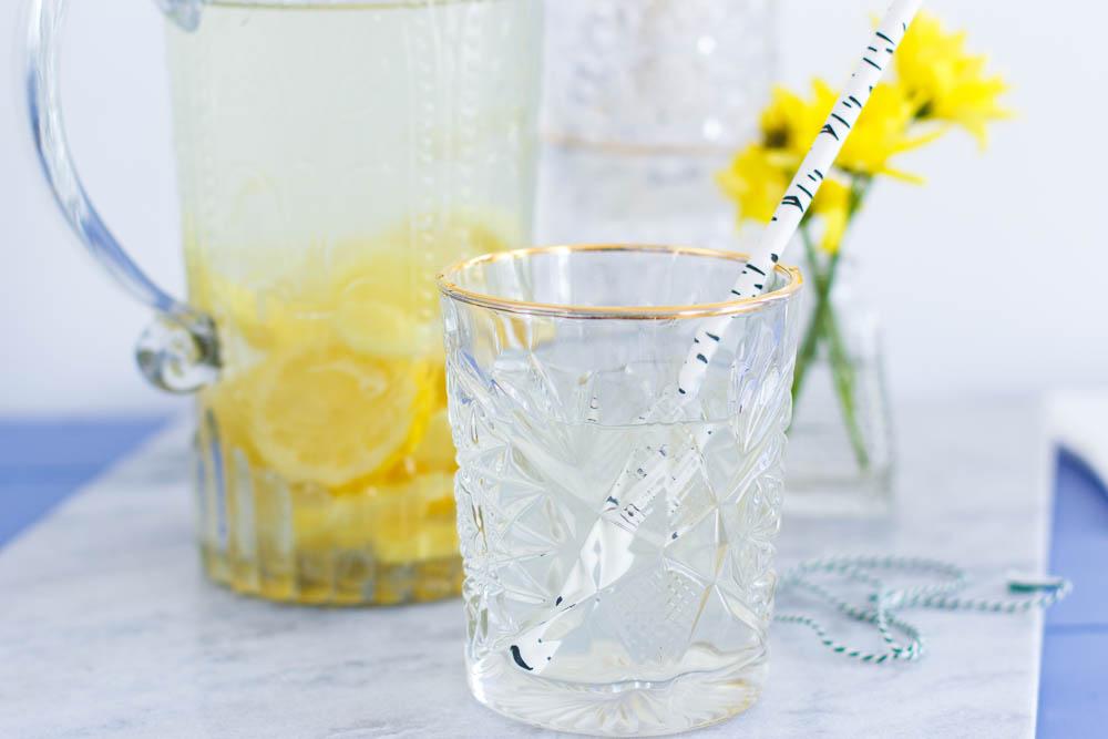 Frisse gember citroenlimonade