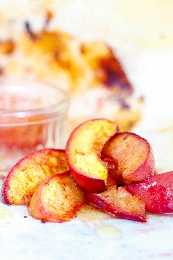Honing nectarines uit de oven