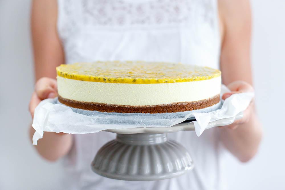 No-bake passievrucht cheesecake
