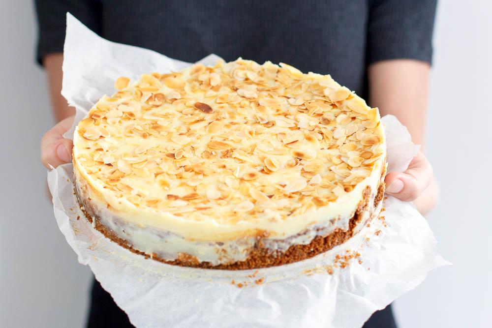 Amaretto cheesecake met witte choco