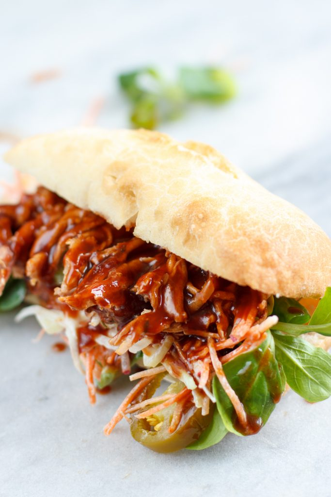 Smokey broodje pulled pork