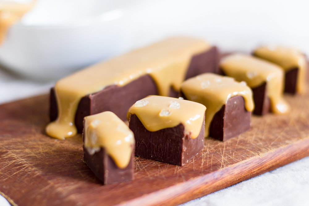 Nutella fudge met salted karamel