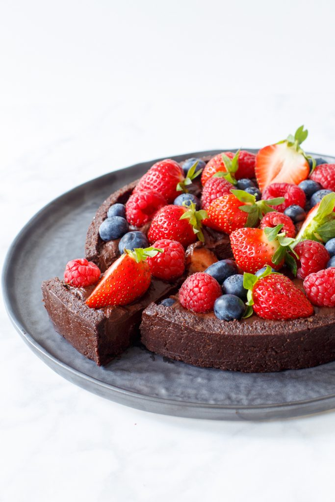 chocomousse brownietaart