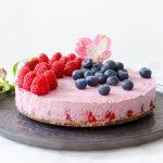 vegan frambozencheesecake