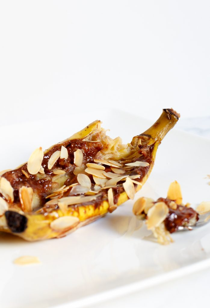 Chocolade bananen met amaretto