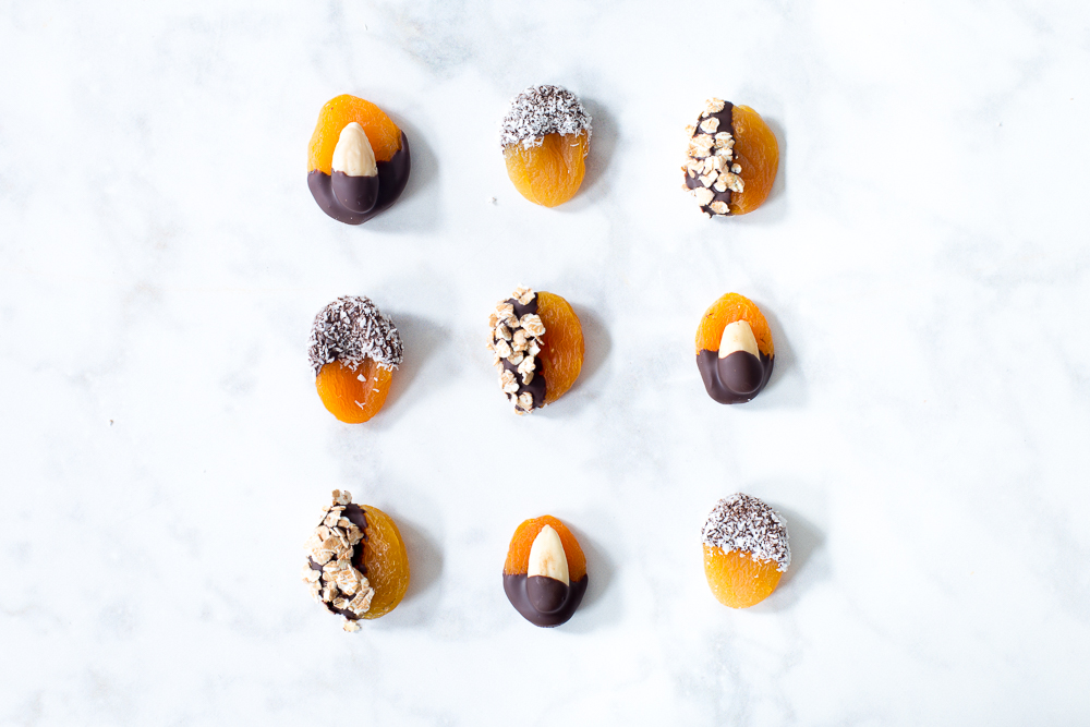 Snelle chocolade abrikoosjes