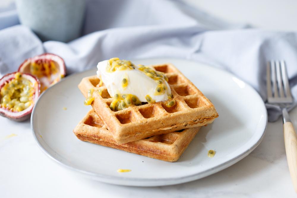 Volkoren ontbijtwafels