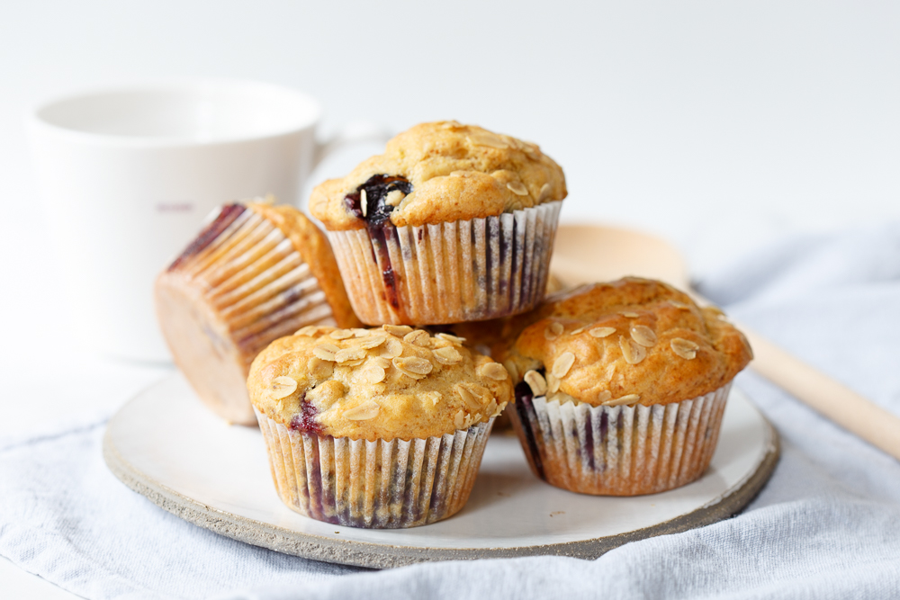 Skinny lemon blueberry muffins