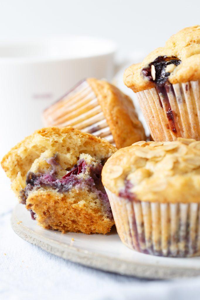Skinny lemon blueberry muffins