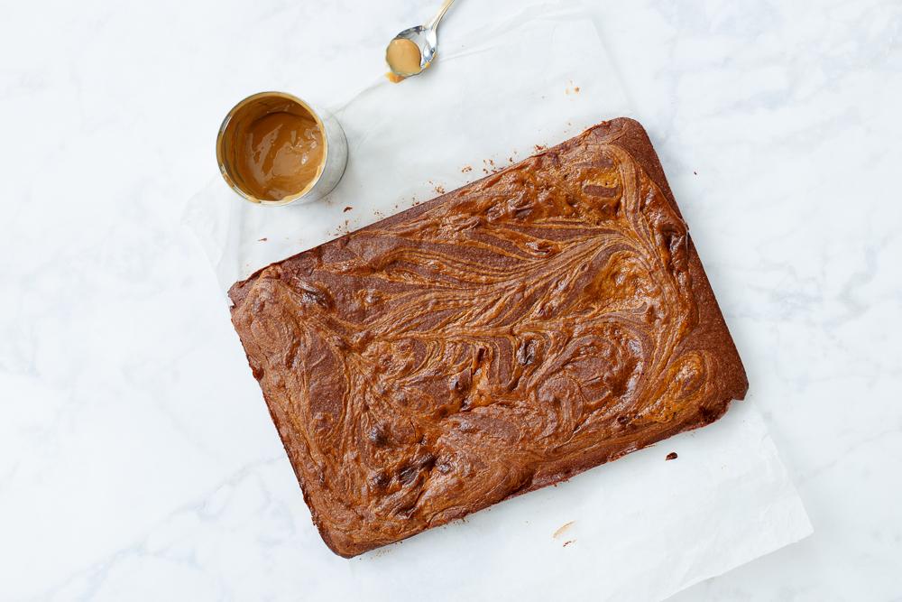 dulce de leche brownies