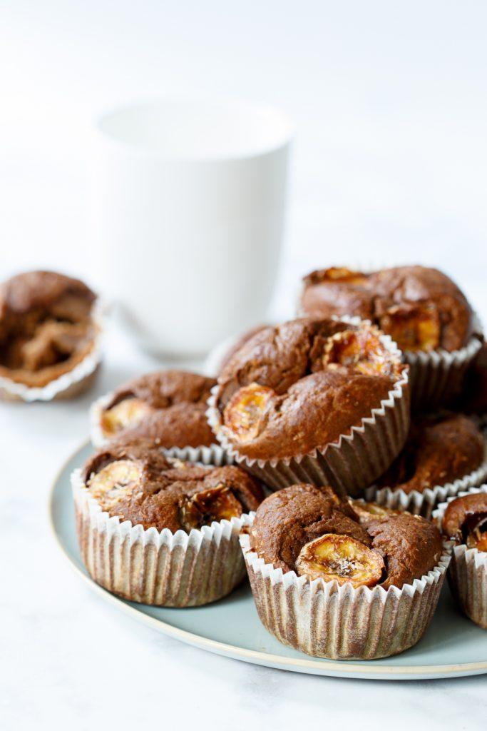 Vegan espresso-ontbijtmuffins