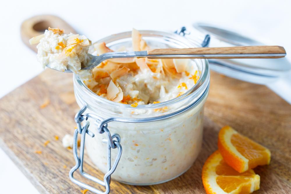 sinaasappel-vanille overnight oats