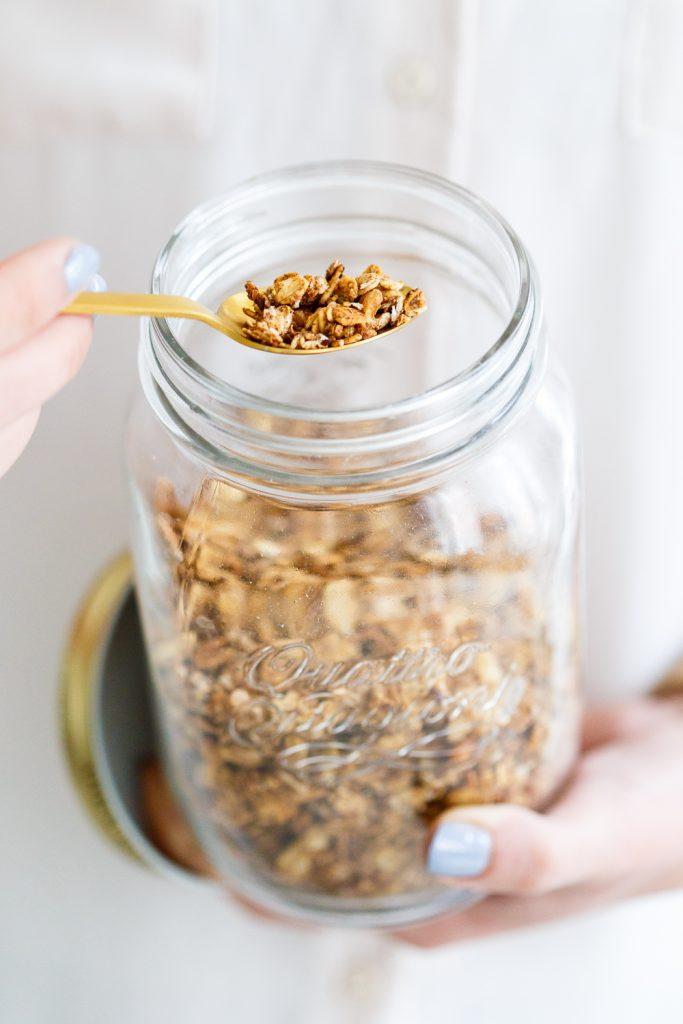 granola zonder toegevoegde suikers of olie