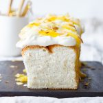 Lemon angel food cake (wolkjescake)