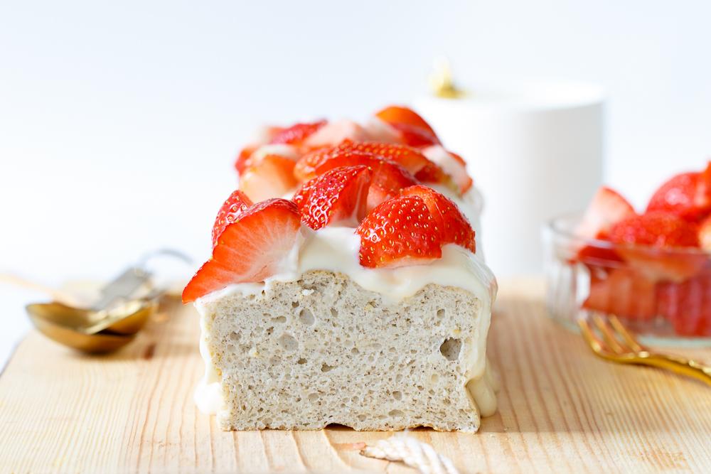 Suikervrije angel food cake (wolkjescake)