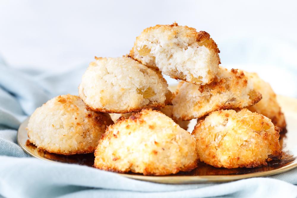 Gezond fastfood: rozijn-kokosmakronen