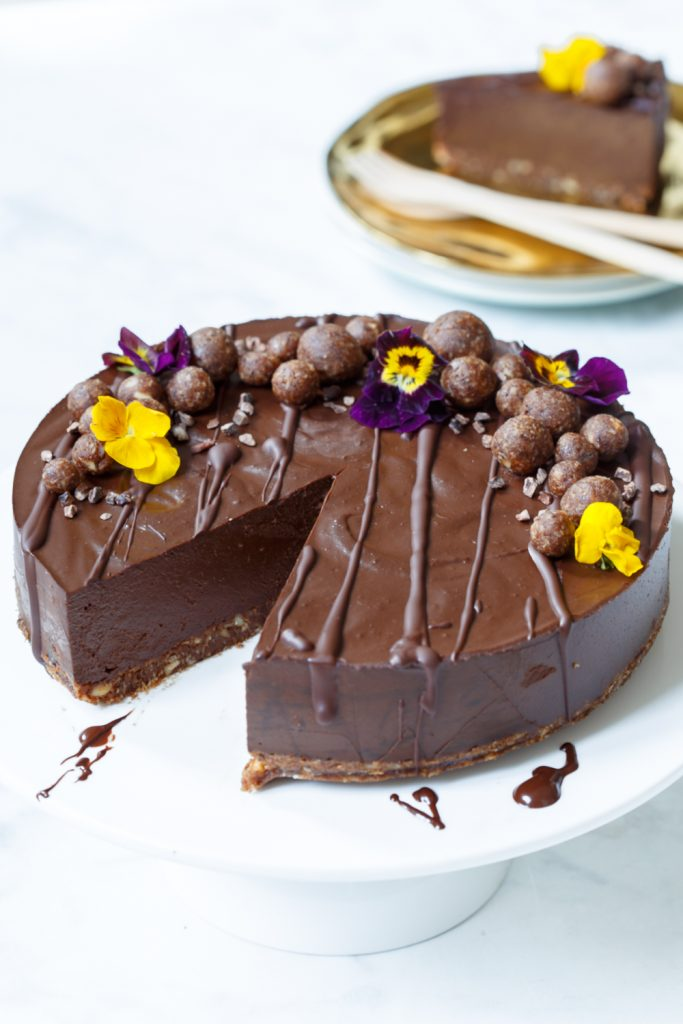 Raw vegan chocolade cheesecake