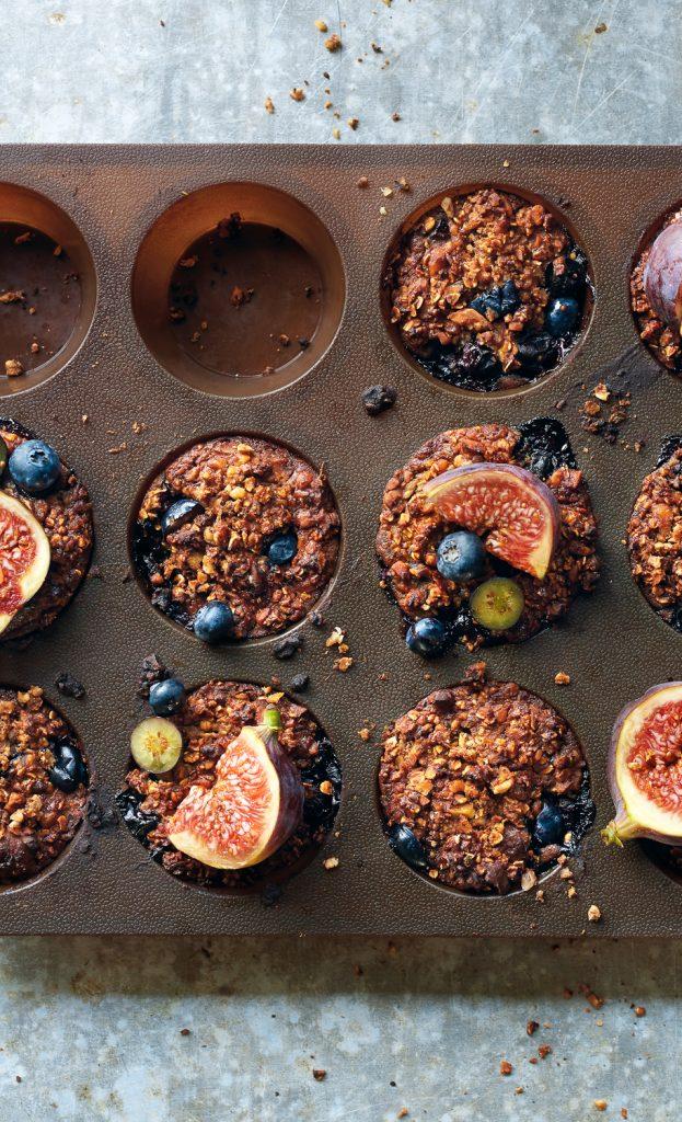 Blauwe bessen vijgen muffins