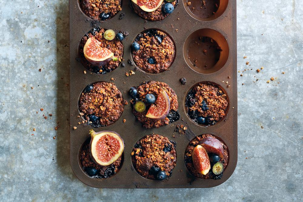 Blauwe bessen-vijgen muffins