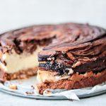 Gemarmerde chocolade cheesecake koolhydraatarm