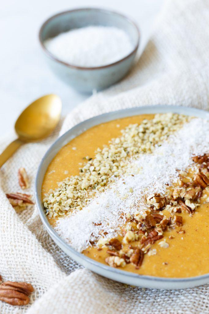 Pompoen smoothiebowl (koolhydraatarm!)