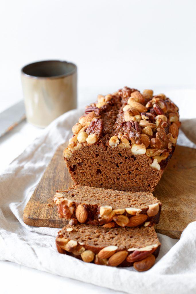 Glutenvrije gezonde ontbijtkoek