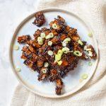 Crunchy tofu in sticky ketjapsaus