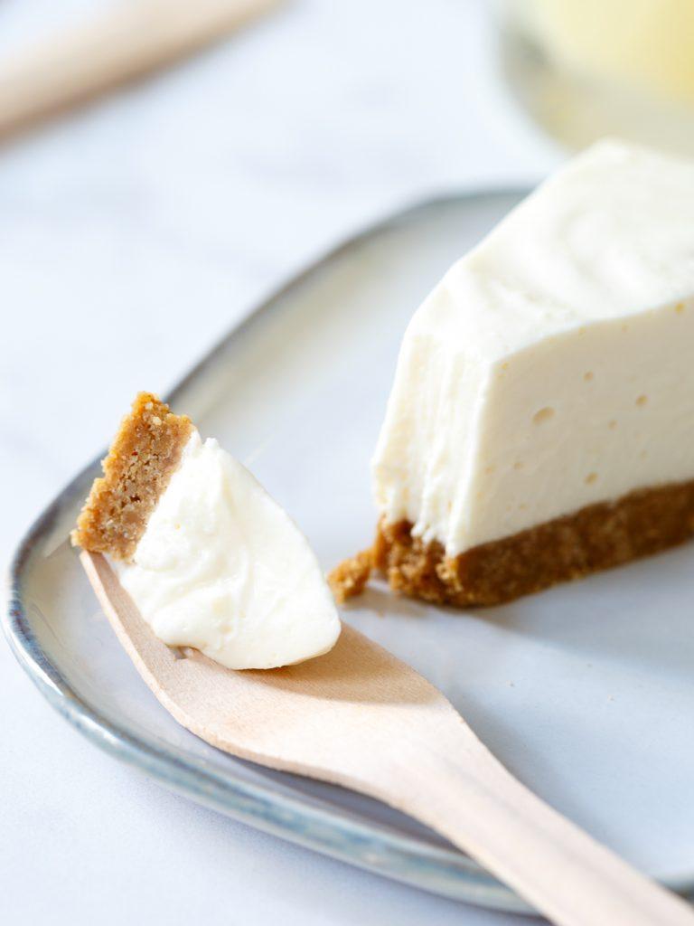 No bake witte chocolade cheesecake