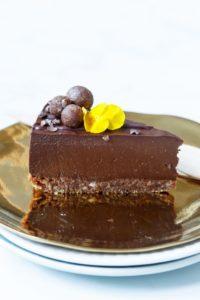 Vegan chocolade cheesecake